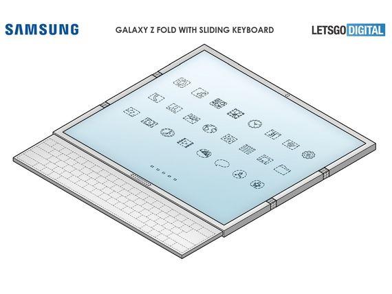 Samsung : un nouveau smartphone pliant avec deux charnières et un clavier coulissant ?