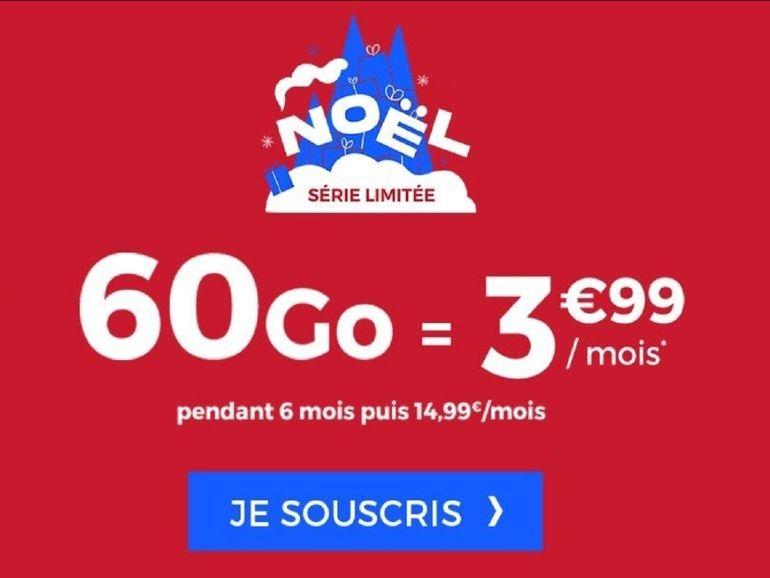 Cdiscount Mobile : 60 Go pour 3,99 euros avec la série limitée Noël