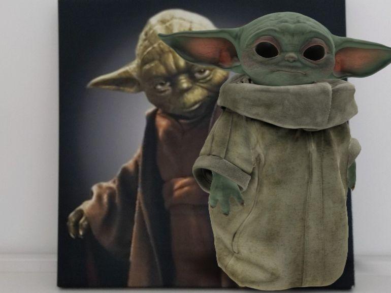 Baby Yoda en réalité augmentée chez vous avec Google AR