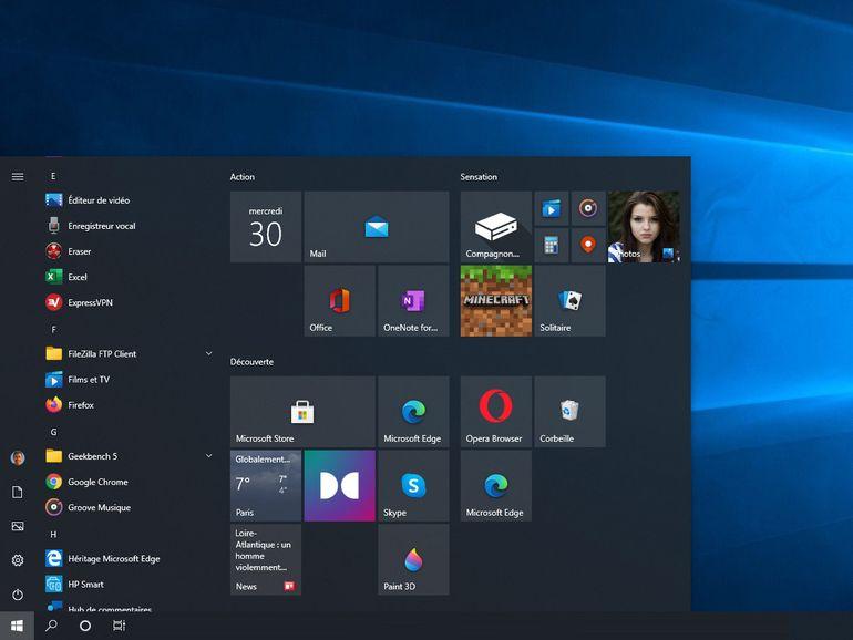 Microsoft cherche à nettoyer le menu démarrer de Windows 10
