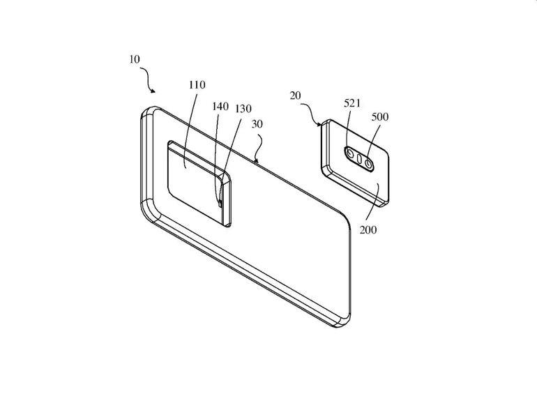 Oppo travaillerait sur un smartphone avec un module photo détachable