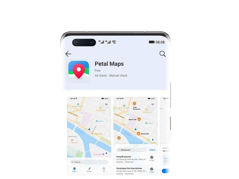 Petal Maps, l'alternative de Google Maps développée par Huawei arrive sur l'App Gallery