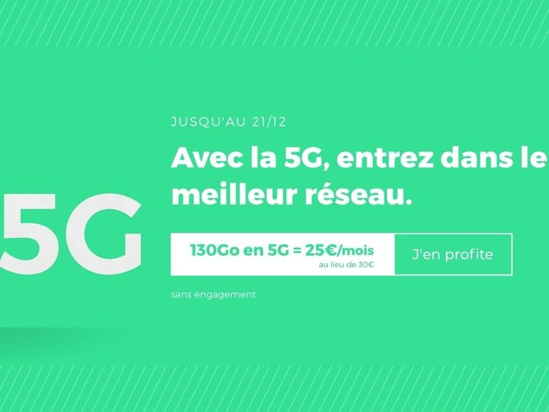RED by SFR lance son offre 5G à 25€ avec 130 Go d'internet