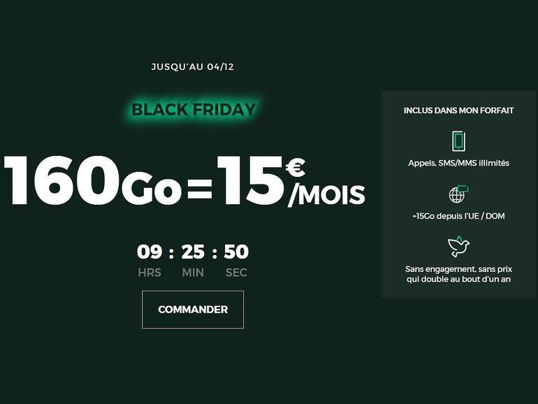 Black Friday : 160 Go pour 15€, RED by SFR casse les prix