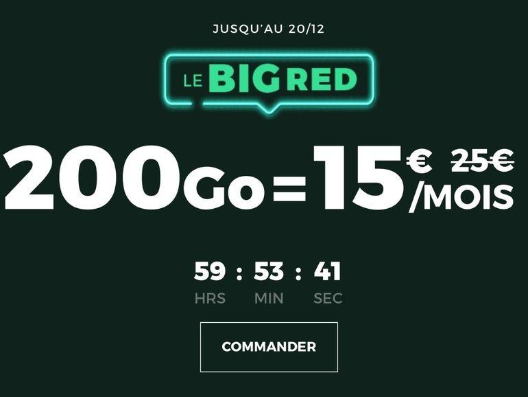 RED by SFR : 200 Go pour 15€, que vaut le forfait en promo BIG RED ?