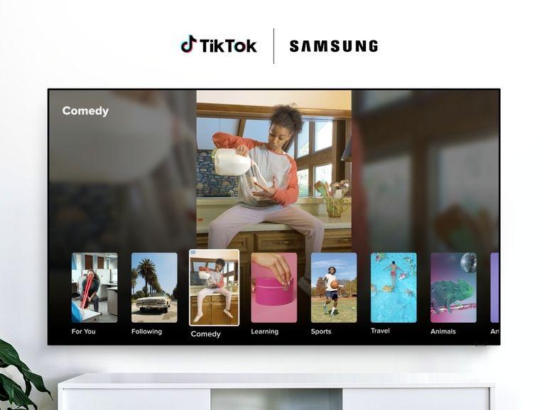 TikTok arrive sur les TV Samsung en Europe