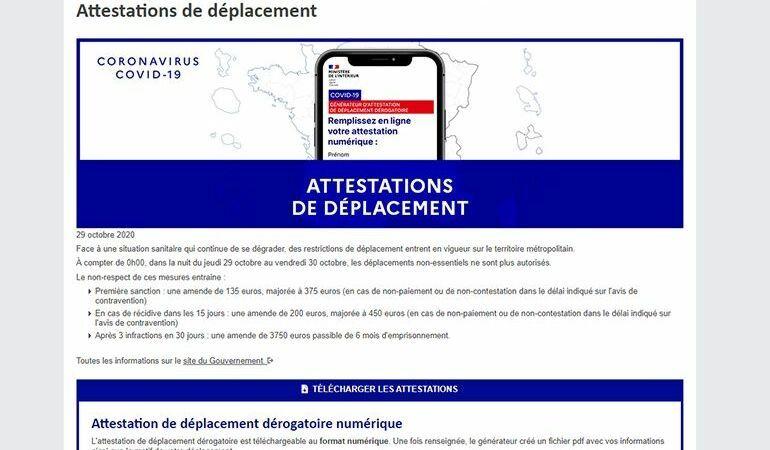 Attestation de déplacement : ce qu'il faut savoir sur les différents documents et le déconfinement