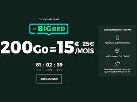Forfait mobile : 200 Go pour 15€, l'offre BIG RED de SFR est de retour