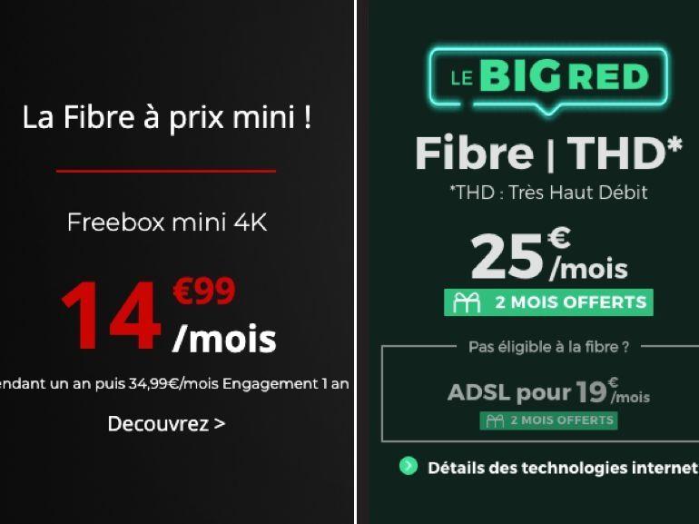 Forfait Box fibre en promo : RED ou Free, lequel choisir avant ce soir ?