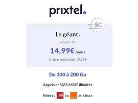 Prixtel lance son forfait 5G à partir de 14,99 € / mois avec 100 Go de data