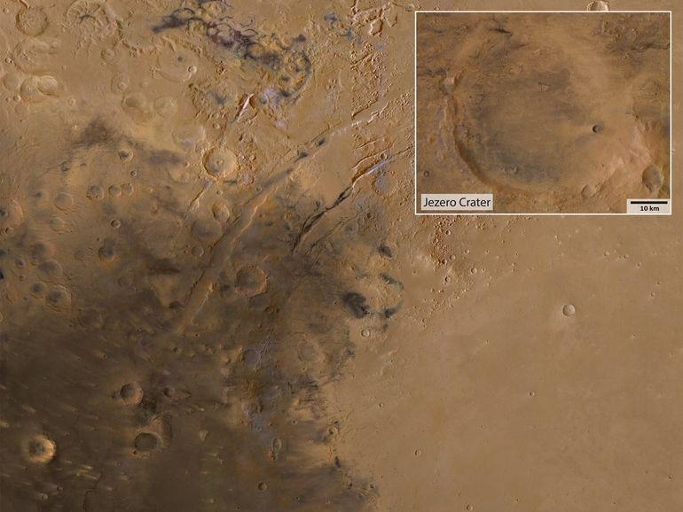 Nasa Perseverance : survolez le cratère sur Mars où le rover va se poser ce soir