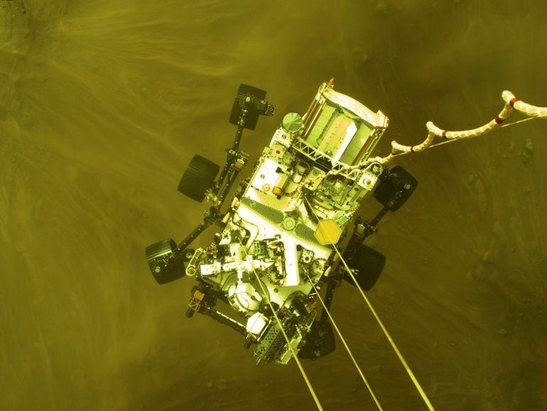 Perseverance : revivez son atterrissage en vidéo et écoutez les premiers sons de Mars