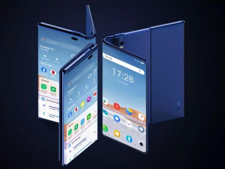 Un nouvel aperçu du smartphone pliant et enroulable de TCL