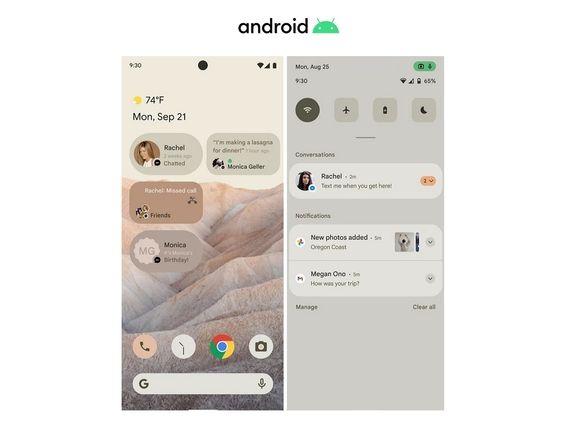 Android 12 : les premières images dévoilent une interface utilisateur remaniée