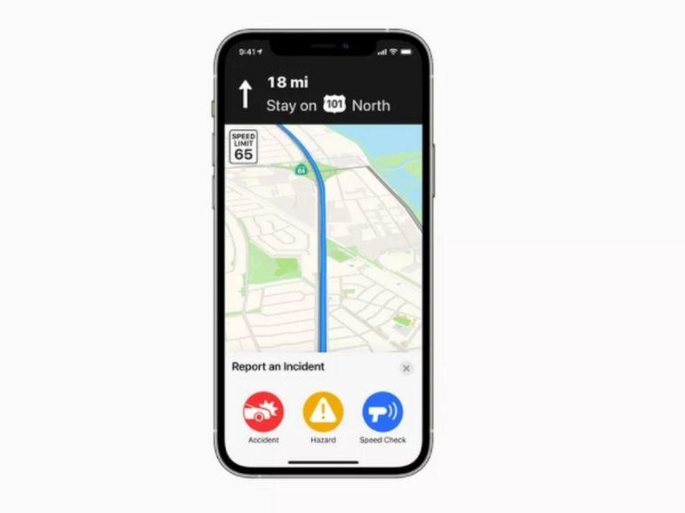 Apple Plans s'inspire de Waze avec une fonction de signalement des incidents