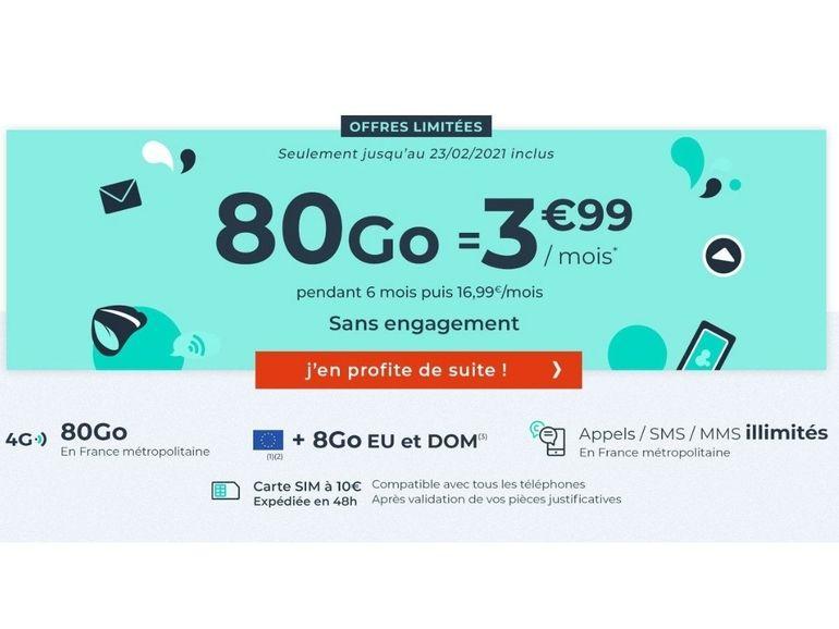 Forfait mobile : 80 Go pour 3,99 euros (pendant 6 mois), que vaut la promo de Cdiscount ?