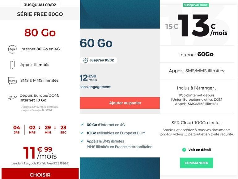 Forfait Free 80 Go : 11,99€ pendant un an puis de la 5G pour 19,99€, le bon plan face à RED et B&You ?