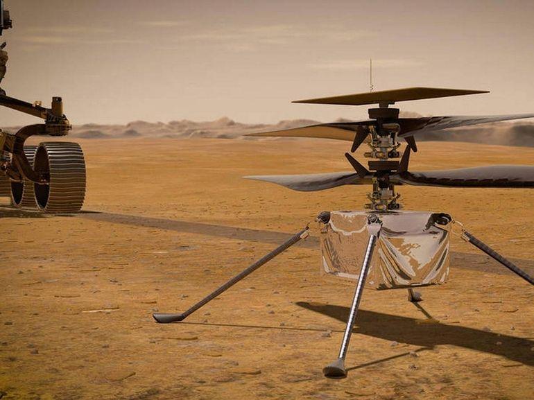 Perseverance s'apprête à larguer Ingenuity, l'hélicoptère qui doit survoler Mars