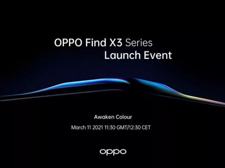Oppo dévoilera le Find X3 Pro le 11 mars