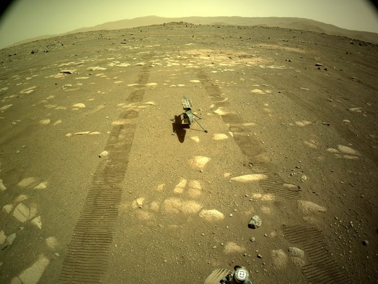 Ingenuity, l'hélicoptère qui va survoler Mars, paré au décollage