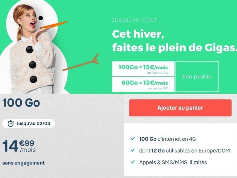 B&You ou RED by SFR : quel forfait 100 Go à 15€ choisir ?