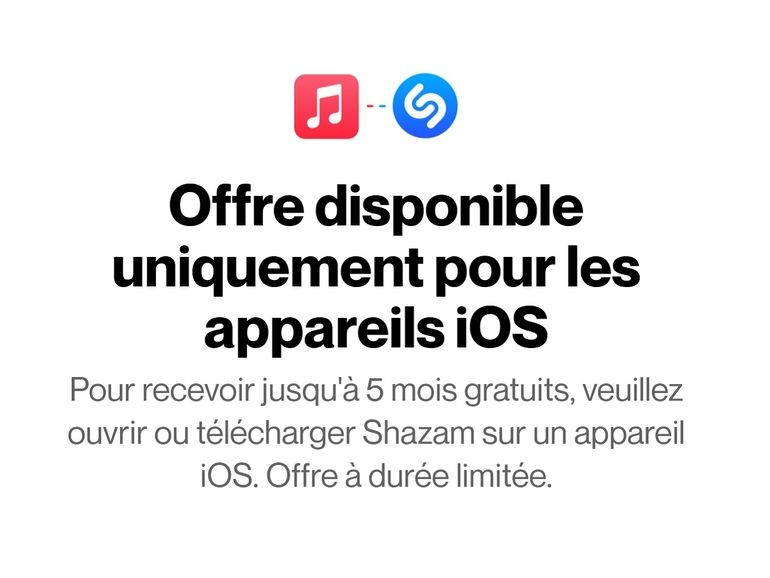 Apple Music : Shazam offre 5 mois d'abonnement au service de streaming