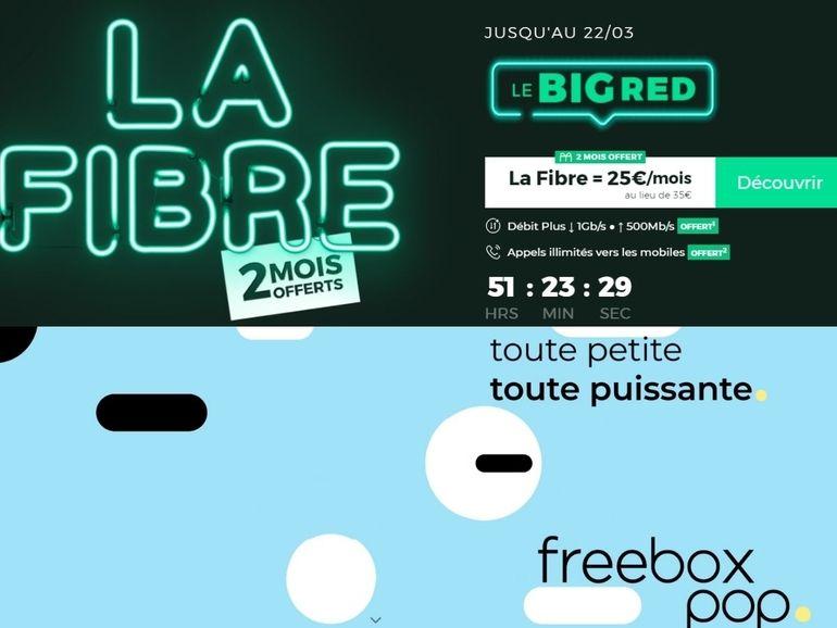 Box fibre : Freebox Pop vs BIG RED, quel est le meilleur bon plan forfait internet ?