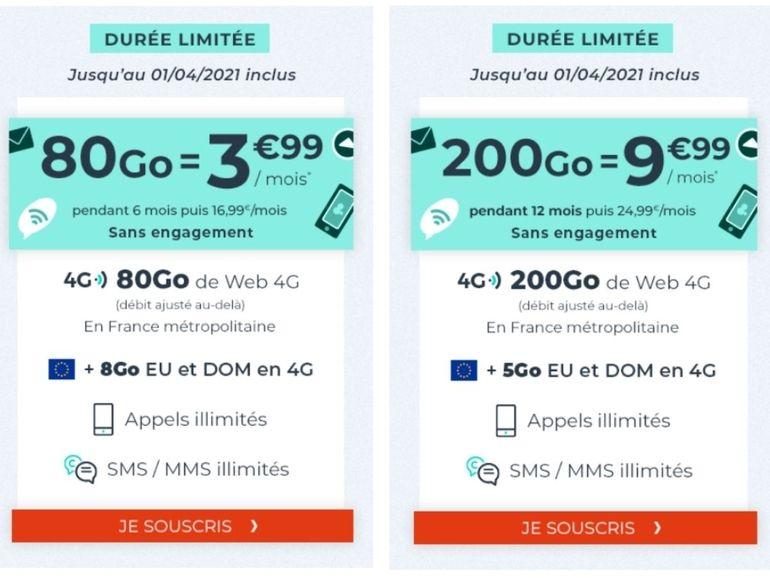 Jusqu'à 200 Go à partir de 3,99 euros : ces deux forfaits Cdiscount valent le coup d'œil