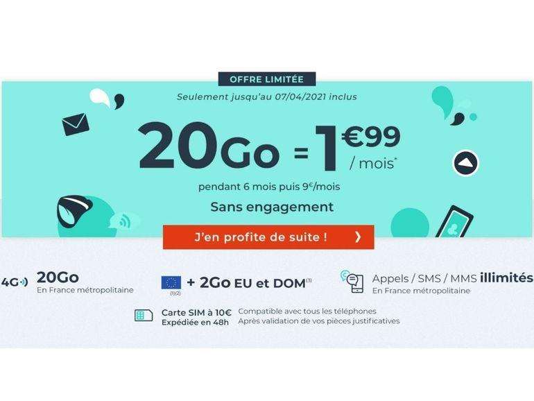 Ce forfait mobile à 2 euros pendant 6 mois est le deal du moment