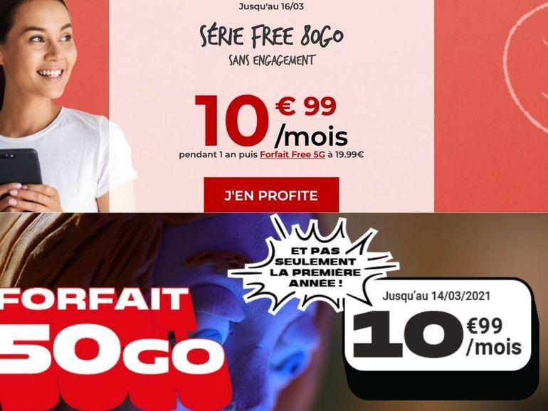 Bon plan forfait 10 euros : NRJ Mobile ou Free Mobile, le face-à-face du week-end