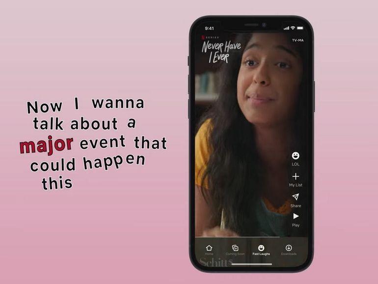 """""""Pour Rire"""", une nouvelle fonction au format TikTok arrive sur Netflix"""