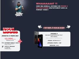 """NRJ Mobile """"offre"""" un iPhone 8 reconditionné avec son forfait 100 Go à 12,99€/mois"""