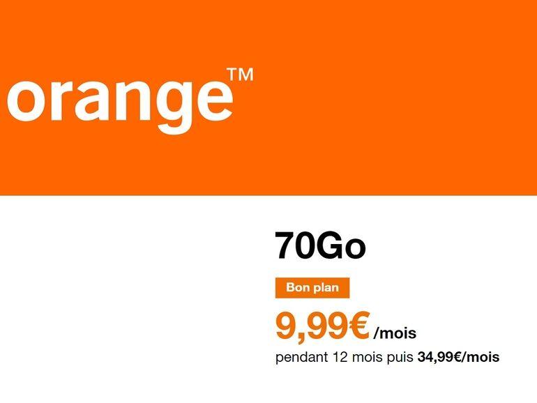 Orange : le forfait 70 Go est à 9,99€, une très belle promo de l'opérateur