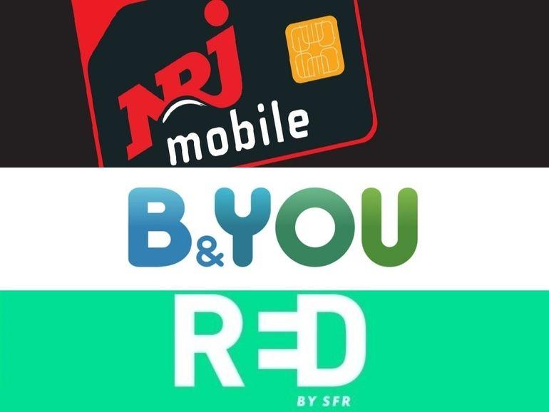 Forfait 100 Go à partir de 10 euros : RED SFR, B&You ou NRJ Mobile, qui choisir ?