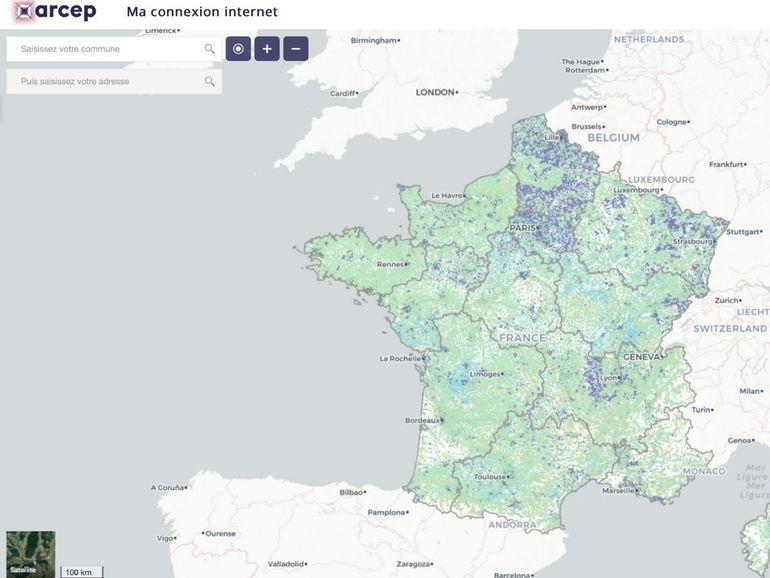 """""""Ma connexion internet"""" : une carte interactive pour connaitre les débits et technologies fixes disponibles chez vous"""