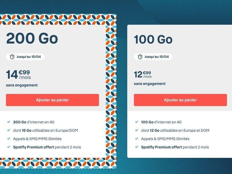 Forfait mobile : B&You répond à RED SFR avec des offres 100 et 200 Go à partir de 13 euros