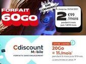Forfait mobile : que valent les promos à moins de 3€ avec 20 ou 60 Go ?