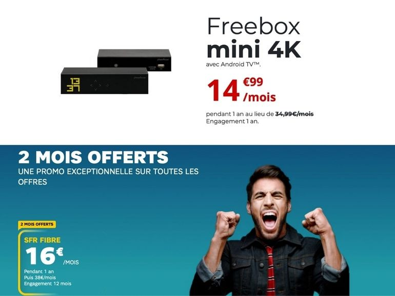 SFR ou Free : le meilleur forfait internet fibre à moins de 20 euros, c'est chez qui ?
