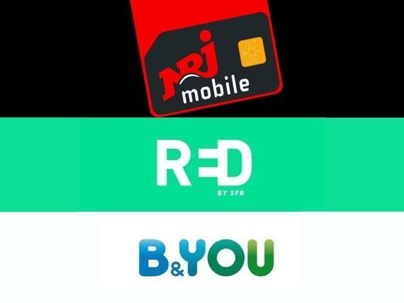 Bon plan forfait : de 100 à 200 Go à partir de 7,99 euros chez NRJ Mobile, RED by SFR et B&You
