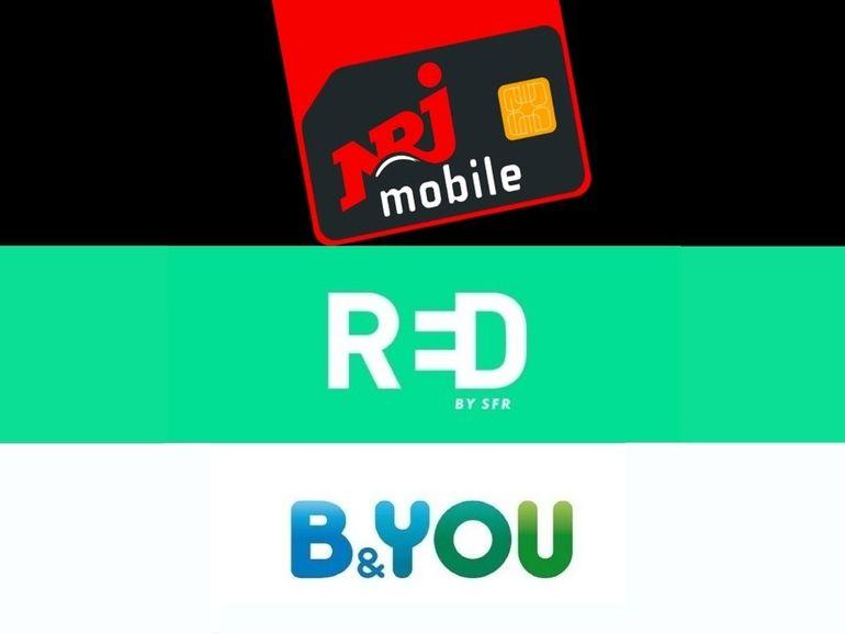 Bon plan forfait : 200 Go à partir de 10 euros chez NRJ Mobile, RED by SFR et B&You