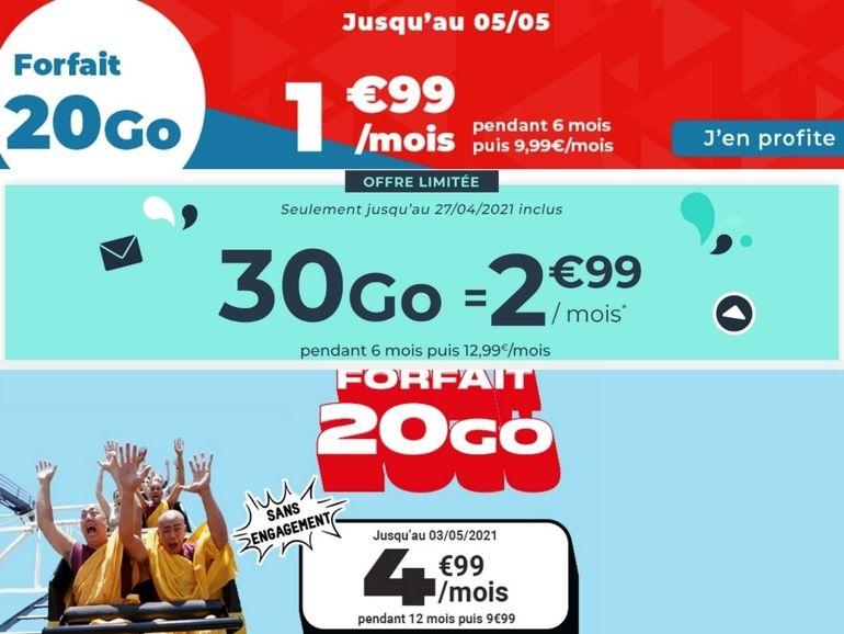 Forfait mobile à moins de 5 euros : les meilleures promotions de la semaine