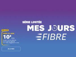 SFR Les Jours Fibre : La fibre (ou l'ADSL) à 10 euros par mois !