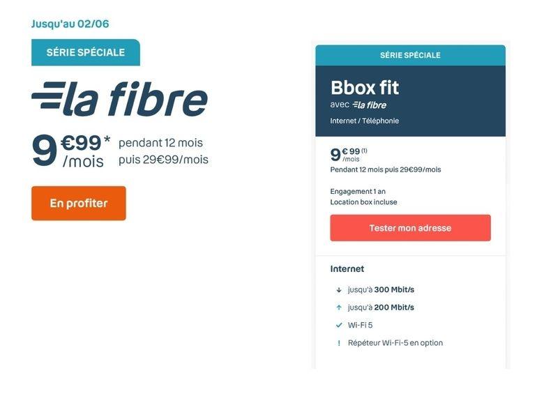 La fibre de nouveau à 10 euros chez Bouygues Telecom avec la Bbox Fit