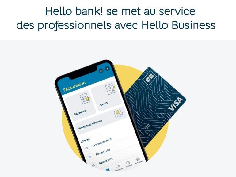 Hello Bank ajoute une corde à son arc avec une offre adaptée aux professionnels
