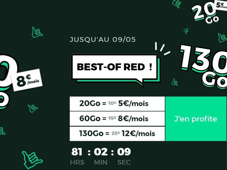 Mobile plan: from 5 euros, up to 130 GB, RED by SFR reviews its 4G and 5G offers
