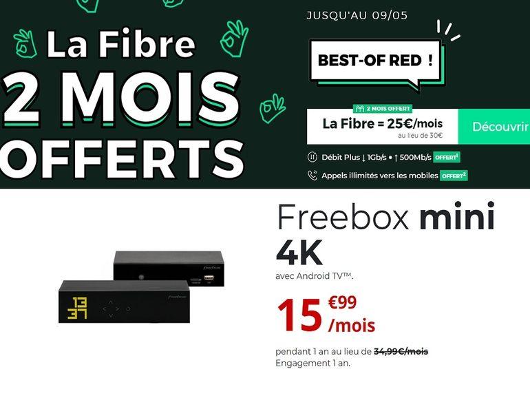 Bon plan internet : Freebox mini 4K vs RED Box, quel est le meilleur forfait fibre ?