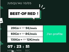 Forfait mobile : à partir de 5 euros, jusqu'à 130 Go, RED by SFR prolonge ses offres 4G et 5G