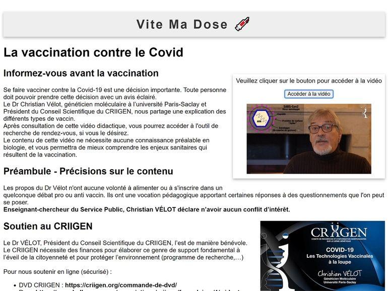 Vite Ma Dose : comment des vaccino-sceptiques ont usurpé une des URL