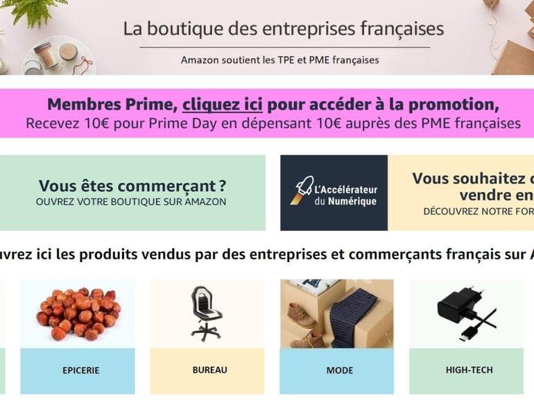 Prime Day : 10€ offerts dès 10€ d'achat sur des produits de PME françaises