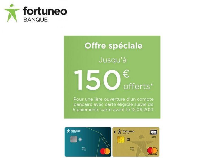 Fortuneo offre jusqu'à 150 euros pour l'ouverture d'un compte
